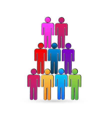 Teamwork social networking people unity concept vector icon Vector
