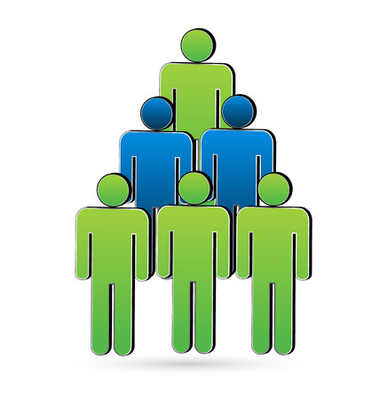 Teamwork people in a tree shape. concept of unity and success business icon vector Vector