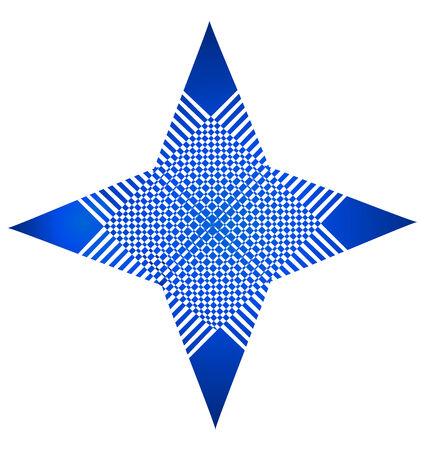 estrella azul: Abstrat estrella azul icono de la tarjeta de visita del vector aplicaci�n gr�fica