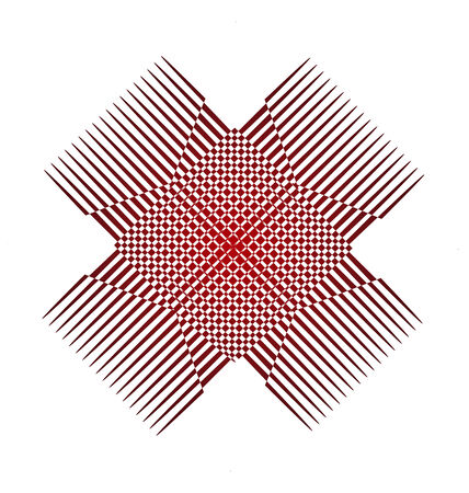 Abstract red graphic application icon vector  Vector