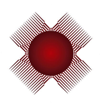 Abstract red circle graphic application icon vector Illustration