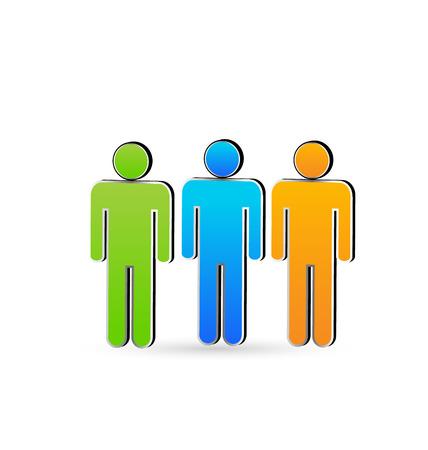 Partners friends business  Vector