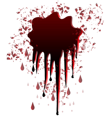 Blood spot splash graphic Vector