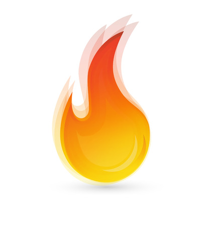 hot: Fire flames Illustration
