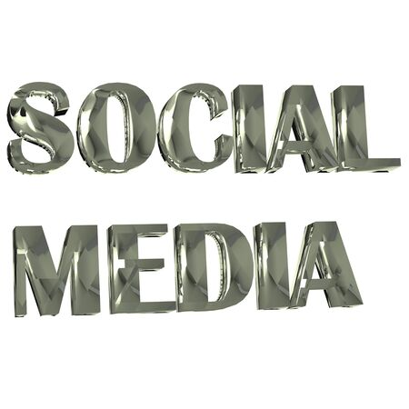 tweets: Social Media Word 3D image background design