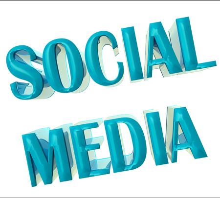 Social Media Word 3D image background design photo