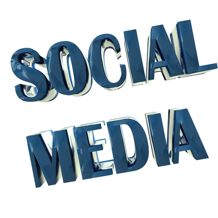 Social Media Word 3D image background design photo