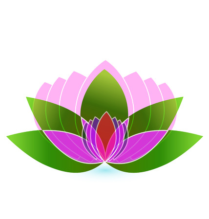 buddhist monk: Lotus flower -yoga icon vector