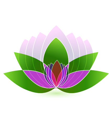Lotus flower icon vector background Vector