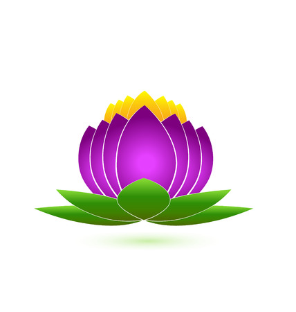 Lotus flower icon vector design  Vector