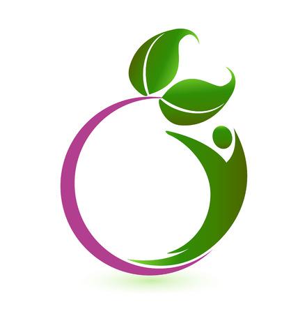 治癒: 健康自然のビジネス カードのアイコン  イラスト・ベクター素材