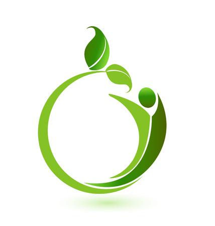 治癒: 健康自然 id ビジネス カード  イラスト・ベクター素材