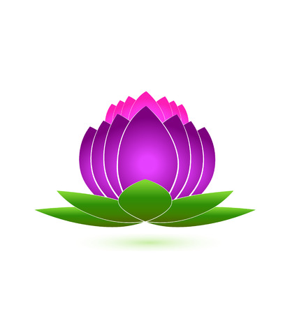 Lotus flower icon logo vector Vector