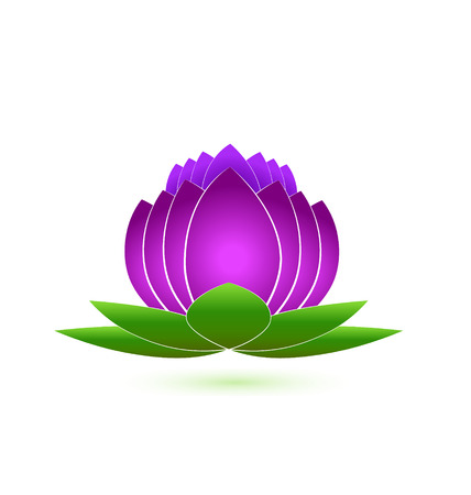 Lotus flower icon design vector Vector