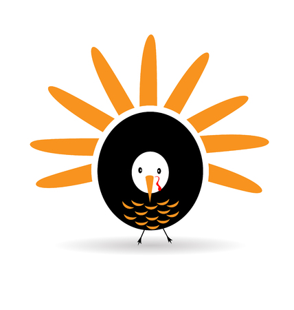 Happy Thanksgiving celebration,with a graceful turkey icon vector design Vector