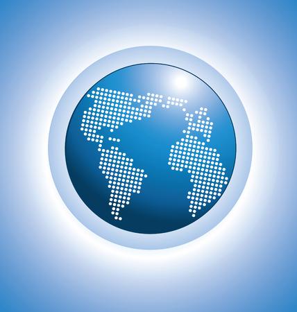gönüllü: Parlak dijital dünya haritası vektör tasarımı
