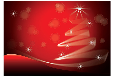 Red Christmas Tree image vector background Illustration