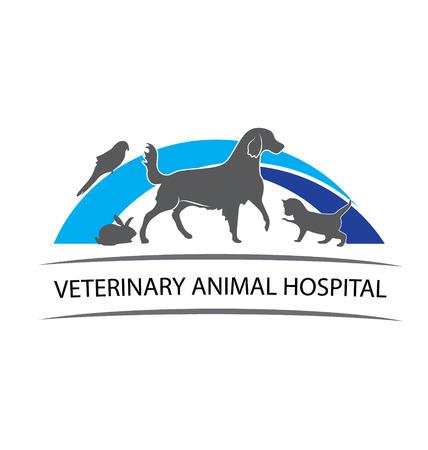 lapin: Animaux conception de vétérinaire animaux
