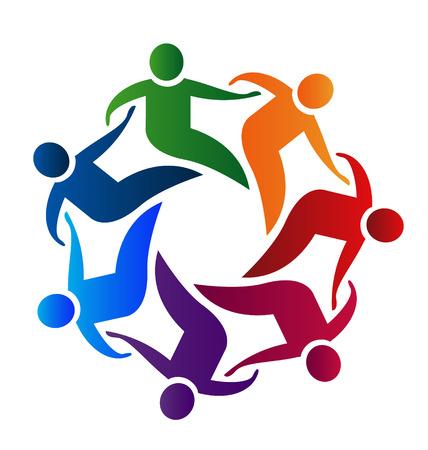 Business partners teamwork holding hands