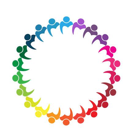 Teamwork business people union concept