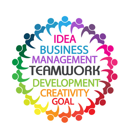 Teamwork business people union concept Vector