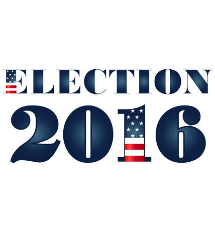 Election 2016 with USA Flag illustration. Vector icon symbol design Vector