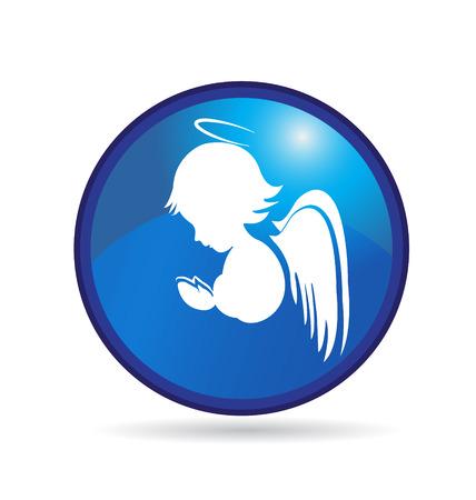 Angel button Ilustração
