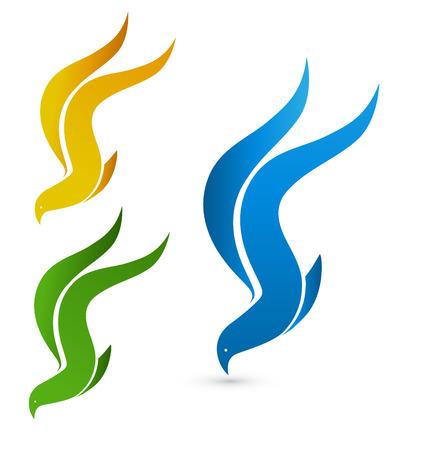 Vector birds flying symbol icon