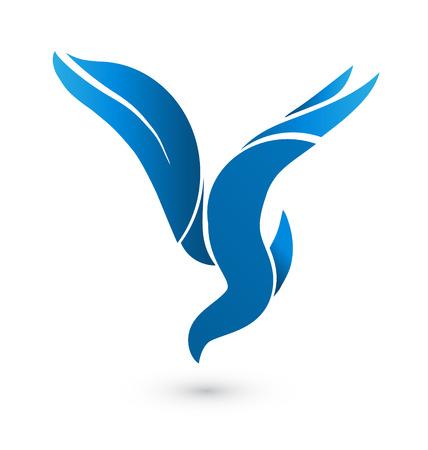 Blauer Vogel Personalausweis-Symbol Standard-Bild - 32770744