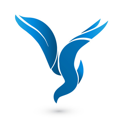 Blue bird identity card icon Vector