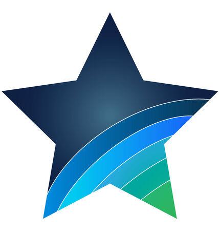 L'icône bleue d'étoiles