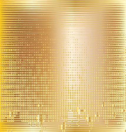 Golden background and twinkly lights vector Vector