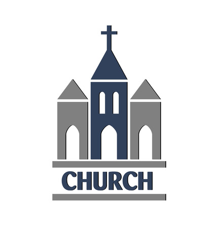 people in church: Church vector image icon