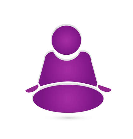 Yoga icon vector design Vector
