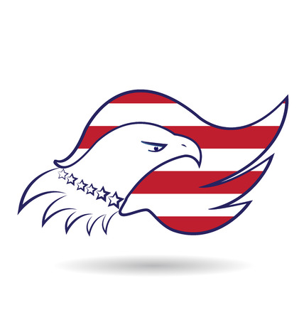 American Eagle Flag vector Vector