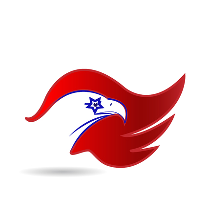 American Eagle star eye vector design Vector