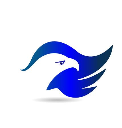 American Eagle blue wings vector icon Vector