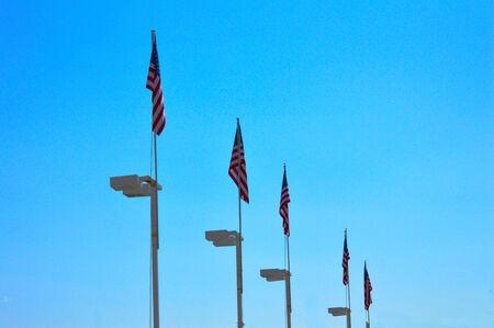 USA flags on file  Zdjęcie Seryjne