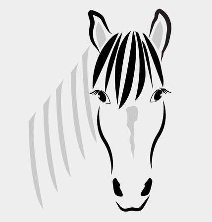 Horse head portrait logo vector Illustration