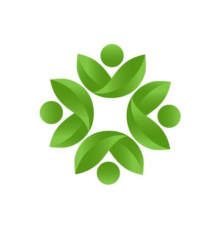 Health nature teamwork icon vector Vector