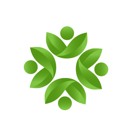 Health nature teamwork icon vector Vector