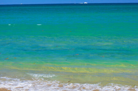Blue ocean from the beach Stock Photo