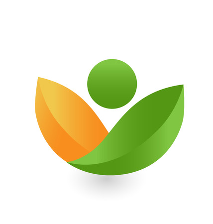 health and fitness: Health nature icon vector