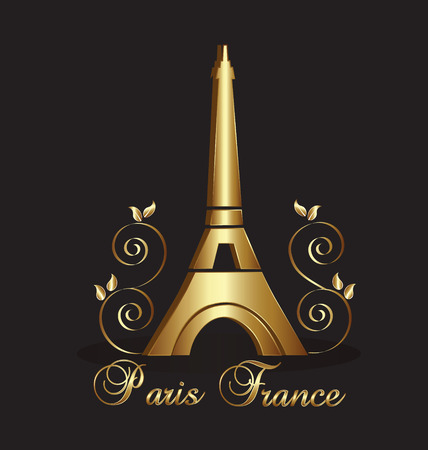 french culture: Eiffel Tower Paris-France vector background