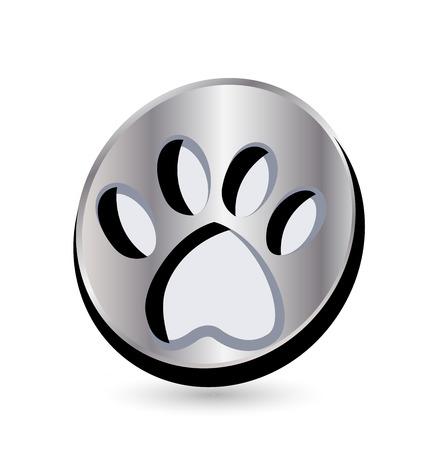 Dog footprint icon Vector