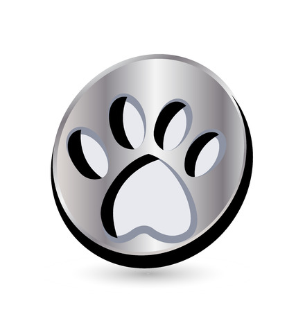 Dog footprint icon Stock Illustratie
