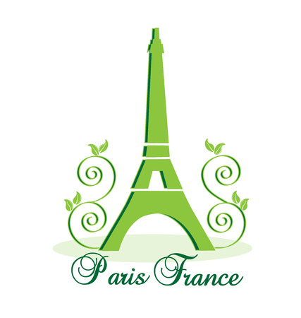 Eiffel Tower Paris-France vector background Vector