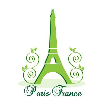 built tower: La torre Eiffel de Par�s-Francia de vectores de fondo Vectores