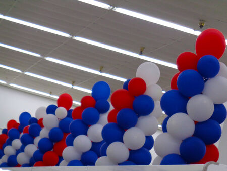 ceiling design: Balloons in a grand opening store Stock Photo