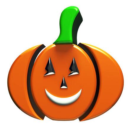 Pumpkin 3d image icon photo